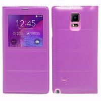 Samsung Galaxy Note 4 SM-N910F/ Note 4 Duos (Dual SIM) N9100/ Note 4 (CDMA)/ N910C N910W8 N910V N910A N910T N910M: Accessoire Coque Etui Housse Pochette Plastique View Case - VIOLET