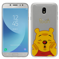 Samsung Galaxy J5 Pro (2017) J530Y/DS: Coque Housse silicone TPU Transparente Ultra-Fine Dessin animé jolie - Winnie the Pooh