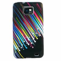 Samsung Galaxy S2 i9100/ i9105G/ Plus: Etui Housse Coque gel de couleur étoile filante - NOIR