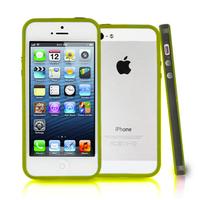 Apple iPhone 5/ 5S/ SE: Bumper TPU silicone pour - NOIR et JAUNE