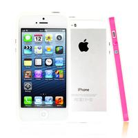 Apple iPhone 5/ 5S/ SE: Bumper TPU silicone pour - ROSE et BLANC