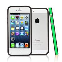 Apple iPhone 5/ 5S/ SE: Bumper TPU silicone pour - VERT et NOIR