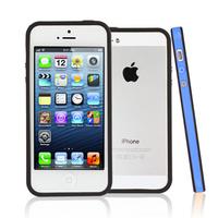 Apple iPhone 5/ 5S/ SE: Bumper TPU silicone pour - BLEU et NOIR