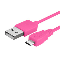 VCOMP® Câble de chargement et de données Micro-USB 2.0 1m de long - ROSE