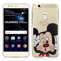 "Huawei P10 Lite 5.2"" (non compatible Huawei P10/ P10 Plus): Coque Housse silicone TPU Transparente Ultra-Fine Dessin animé jolie - Mickey Mouse"