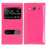 Samsung Galaxy S3 i9300/ i9305 Neo/ LTE 4G: Accessoire Coque Etui Housse Pochette Plastique View Case - ROSE