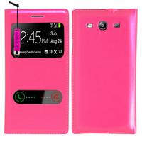 Samsung Galaxy S3 i9300/ i9305 Neo/ LTE 4G: Accessoire Coque Etui Housse Pochette Plastique View Case + mini Stylet - ROSE