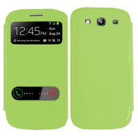 Samsung Galaxy S3 i9300/ i9305 Neo/ LTE 4G: Accessoire Coque Etui Housse Pochette Plastique View Case - VERT