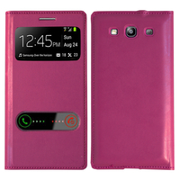 Samsung Galaxy S3 i9300/ i9305 Neo/ LTE 4G: Accessoire Coque Etui Housse Pochette Plastique View Case - VIOLET