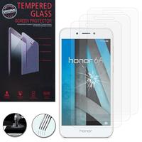 """Huawei Honor 6A 5.0"""": Lot / Pack de 3 Films de protection d'écran Verre Trempé"""