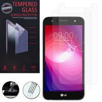 """LG X Power2 5.5""""/ LG K10 Power/ LG X Charge/ M320G/ X500: Lot / Pack de 2 Films de protection d'écran Verre Trempé"""