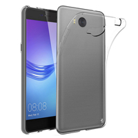 Huawei Y5 (2017)/ Y5 III/ Y5 3/ Nova Young: Accessoire Housse Etui Coque gel UltraSlim et Ajustement parfait - TRANSPARENT