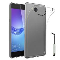 Huawei Y5 (2017)/ Y5 III/ Y5 3/ Nova Young: Accessoire Housse Etui Coque gel UltraSlim et Ajustement parfait + mini Stylet - TRANSPARENT