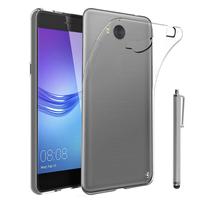 Huawei Y5 (2017)/ Y5 III/ Y5 3/ Nova Young: Accessoire Housse Etui Coque gel UltraSlim et Ajustement parfait + Stylet - TRANSPARENT