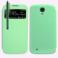 Samsung Galaxy S4 i9500/ i9505/ Value Edition I9515: Accessoire Coque Etui Housse Pochette Plastique View Case + Stylet - VERT