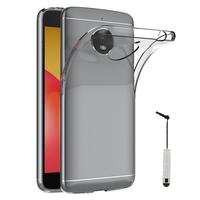 """Motorola Moto E4 Plus 5.5"""" XT1770/ XT1773/ Motorola Moto E Plus (4th Gen): Accessoire Housse Etui Coque gel UltraSlim et Ajustement parfait + mini Stylet - TRANSPARENT"""