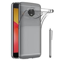 """Motorola Moto E4 Plus 5.5"""" XT1770/ XT1773/ Motorola Moto E Plus (4th Gen): Accessoire Housse Etui Coque gel UltraSlim et Ajustement parfait + Stylet - TRANSPARENT"""