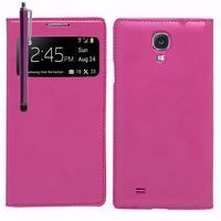 Samsung Galaxy S4 i9500/ i9505/ Value Edition I9515: Accessoire Coque Etui Housse Pochette Plastique View Case + Stylet - VIOLET