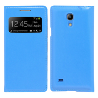 Samsung Galaxy S4 mini i9190/ S4 mini plus I9195I/ i9192/ i9195/ i9197: Accessoire Coque Etui Housse Pochette Plastique View Case - BLEU