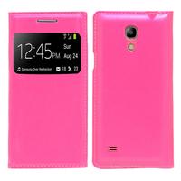 Samsung Galaxy S4 mini i9190/ S4 mini plus I9195I/ i9192/ i9195/ i9197: Accessoire Coque Etui Housse Pochette Plastique View Case - ROSE