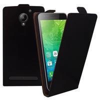 """Lenovo C2 k10a40 4G/ Vibe C2 Power 5.0"""": Accessoire Housse Coque Pochette Etui protection vrai cuir à rabat vertical - NOIR"""