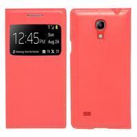 Samsung Galaxy S4 mini i9190/ S4 mini plus I9195I/ i9192/ i9195/ i9197: Accessoire Coque Etui Housse Pochette Plastique View Case - ROUGE