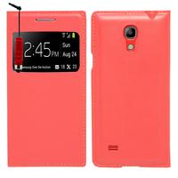Samsung Galaxy S4 mini i9190/ S4 mini plus I9195I/ i9192/ i9195/ i9197: Accessoire Coque Etui Housse Pochette Plastique View Case + mini Stylet - ROUGE