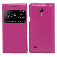 Samsung Galaxy S4 mini i9190/ S4 mini plus I9195I/ i9192/ i9195/ i9197: Accessoire Coque Etui Housse Pochette Plastique View Case - VIOLET