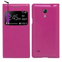 Samsung Galaxy S4 mini i9190/ S4 mini plus I9195I/ i9192/ i9195/ i9197: Accessoire Coque Etui Housse Pochette Plastique View Case + mini Stylet - VIOLET