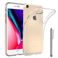 """Apple iPhone 8 4.7"""": Accessoire Housse Etui Coque gel UltraSlim et Ajustement parfait + Stylet - TRANSPARENT"""