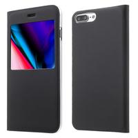 """Apple iPhone 8 Plus 5.5"""": Etui View Case Flip Folio Leather cover - NOIR"""