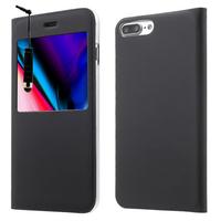 "Apple iPhone 8 Plus 5.5"": Etui View Case Flip Folio Leather cover + mini Stylet - NOIR"
