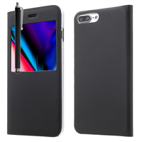 "Apple iPhone 8 Plus 5.5"": Etui View Case Flip Folio Leather cover + Stylet - NOIR"