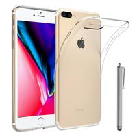 """Apple iPhone 8 Plus 5.5"""": Accessoire Housse Etui Coque gel UltraSlim et Ajustement parfait + Stylet - TRANSPARENT"""