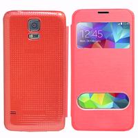 Samsung Galaxy S5 V G900F G900IKSMATW LTE G901F/ Duos / S5 Plus/ S5 Neo SM-G903F/ S5 LTE-A G906S: Accessoire Coque Etui Housse Pochette Plastique View Case - ROUGE