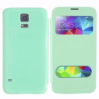 Samsung Galaxy S5 V G900F G900IKSMATW LTE G901F/ Duos / S5 Plus/ S5 Neo SM-G903F/ S5 LTE-A G906S: Accessoire Coque Etui Housse Pochette Plastique View Case - VERT