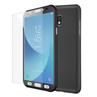 Samsung Galaxy J5 Pro (2017) J530Y/DS: Coque de protection intégrale 360° Avant Et Arrière Ultra Mince Ultra Léger avec Verre Trempé pour l'Ecran - NOIR