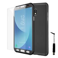 Samsung Galaxy J5 Pro (2017) J530Y/DS: Coque de protection intégrale 360° Avant Et Arrière Ultra Mince Ultra Léger avec Verre Trempé pour l'Ecran + mini Stylet - NOIR