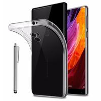 """Xiaomi Mi Mix 6.4"""": Accessoire Housse Etui Coque gel UltraSlim et Ajustement parfait + Stylet - TRANSPARENT"""