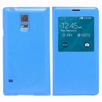 Samsung Galaxy S5 Mini G800F G800H / Duos: Accessoire Coque Etui Housse Pochette Plastique View Case - BLEU