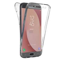 Samsung Galaxy J7 (2017) SM-J730F/DS/ J7 (2017) Duos J730F/DS: Coque Housse Silicone Gel TRANSPARENTE ultra mince 360° protection intégrale Avant et Arrière - TRANSPARENT