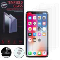 """Apple Iphone X 5.8""""/ iPhone 10/ iPhone Ten: Lot / Pack de 3 Films de protection d'écran Verre Trempé"""