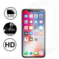 """Apple Iphone X 5.8""""/ iPhone 10/ iPhone Ten: Lot/ Pack de 3 Films en Verre Trempé Bord Incurvé Resistant"""