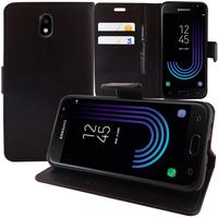 Samsung Galaxy J3 (2017) J330F/DS/ J330G/DS/ J3 Pro (2017) (non compatible Galaxy J3 2016/ 2015): Accessoire Etui portefeuille Livre Housse Coque Pochette support vidéo cuir PU - NOIR