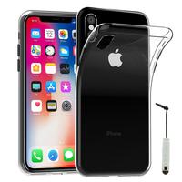 "Apple Iphone X 5.8""/ iPhone 10/ iPhone Ten: Accessoire Housse Etui Coque gel UltraSlim et Ajustement parfait + mini Stylet - TRANSPARENT"