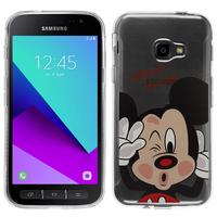 Samsung Galaxy Xcover 4: Coque Housse silicone TPU Transparente Ultra-Fine Dessin animé jolie - Mickey Mouse