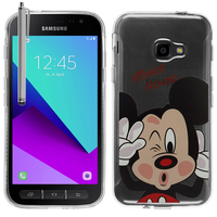 Samsung Galaxy Xcover 4: Coque Housse silicone TPU Transparente Ultra-Fine Dessin animé jolie + Stylet - Mickey Mouse