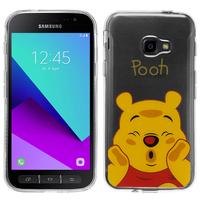 Samsung Galaxy Xcover 4: Coque Housse silicone TPU Transparente Ultra-Fine Dessin animé jolie - Winnie the Pooh
