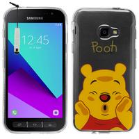 Samsung Galaxy Xcover 4: Coque Housse silicone TPU Transparente Ultra-Fine Dessin animé jolie + mini Stylet - Winnie the Pooh