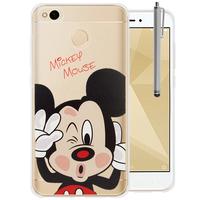 "Xiaomi Redmi 4X 5.0"": Coque Housse silicone TPU Transparente Ultra-Fine Dessin animé jolie + Stylet - Mickey Mouse"